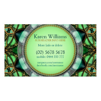 Forest Green Jewel Hearts Business Card