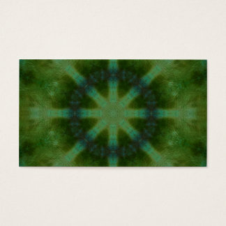 Forest Green Kaleidoscope Business Card