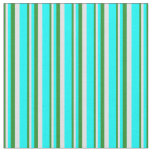 [ Thumbnail: Forest Green, Lavender, and Cyan Colored Lines Fabric ]