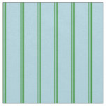 [ Thumbnail: Forest Green & Light Blue Colored Pattern Fabric ]