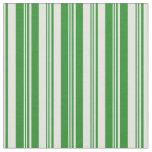 [ Thumbnail: Forest Green & Light Cyan Lined/Striped Pattern Fabric ]