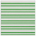 [ Thumbnail: Forest Green & Light Cyan Stripes Fabric ]