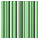 [ Thumbnail: Forest Green, Light Green, White, and Black Lines Fabric ]