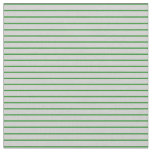 [ Thumbnail: Forest Green & Light Grey Striped/Lined Pattern Fabric ]