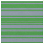 [ Thumbnail: Forest Green & Light Slate Gray Stripes Fabric ]