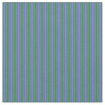 [ Thumbnail: Forest Green & Medium Slate Blue Colored Pattern Fabric ]