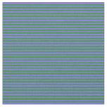 [ Thumbnail: Forest Green & Medium Slate Blue Lines Fabric ]