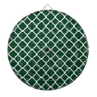 Forest Green Moroccan Quatrefoil Dartboard