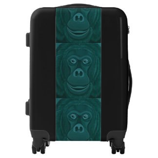 Forest Green Orangutan Luggage
