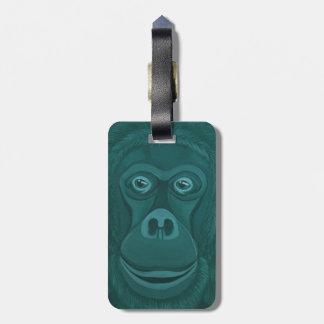Forest Green Orangutan Luggage Tag