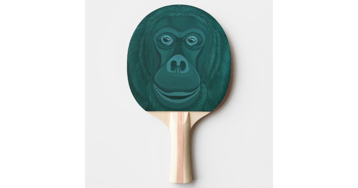 Forest green Orangutan Ping Pong Paddle