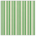 [ Thumbnail: Forest Green & Pale Goldenrod Stripes Fabric ]