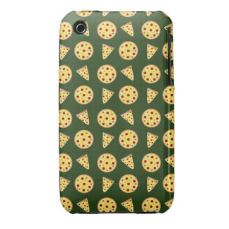 Forest green pizza pattern Case-Mate iPhone 3 case