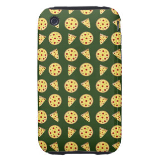 Forest green pizza pattern iPhone 3 tough covers