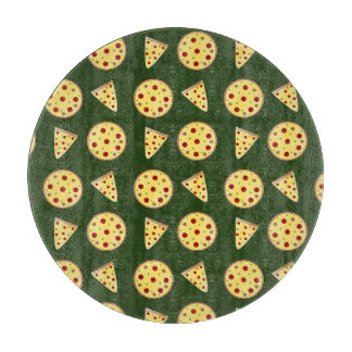 Forest green pizza pattern cutting boards