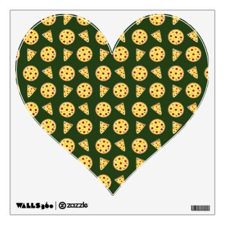Forest green pizza pattern wall skins