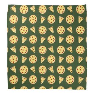 Forest green pizza pattern bandana