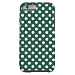 Forest Green Polka Dot Tough iPhone 6 Case