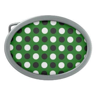 Forest Green Polka Dots Belt Buckle