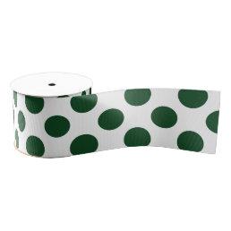 Forest Green Polka Dots Grosgrain Ribbon