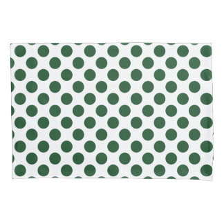 Forest Green Polka Dots Pillow Case