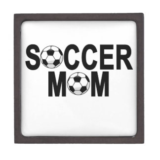 Forest green SOCCER MOM football mother T-Shirts.p Gift Box