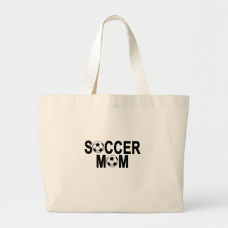 Forest green SOCCER MOM football mother T-Shirts.p Large Tote Bag