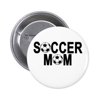 Forest green SOCCER MOM football mother T-Shirts.p Pinback Button