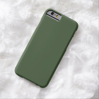 Forest Green Solid Color Barely There iPhone 6 Case