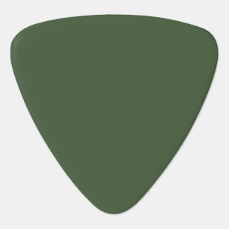 Forest Green Solid Color Guitar Pick
