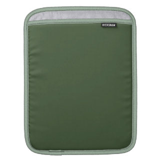 Forest Green Solid Color iPad Sleeves