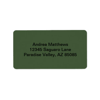 Forest Green Solid Color Label