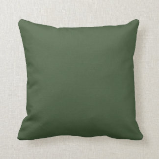 Forest Green Solid Color Throw Pillow
