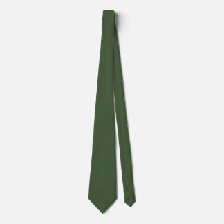 Forest Green Solid Color Tie