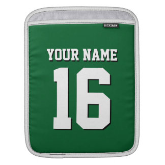 Forest Green Sporty Team Jersey Sleeve For iPads