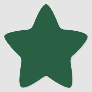 Forest Green Star Sticker