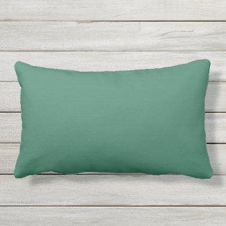 Forest Green Texture Outdoor Lumbar Pillow