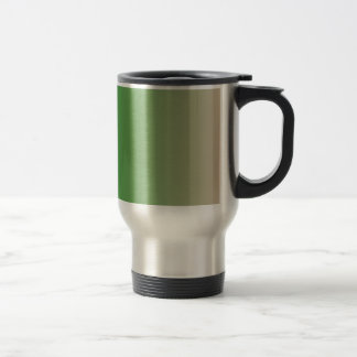 Forest Green to Dark Vanilla Vertical Gradient Travel Mug