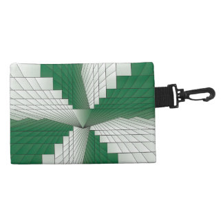 Forest Green Triangle Fractal Accessories Bags