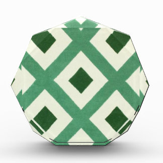 Forest Green Triangle Pattern Award