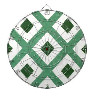 Forest Green Triangle Pattern Dartboard