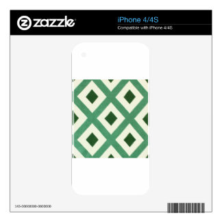 Forest Green Triangle Pattern Skin For The iPhone 4S