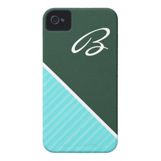 Forest Green & Turquoise iPhone 4 Case-Mate Case