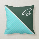 Forest Green & Turquoise Throw Pillows
