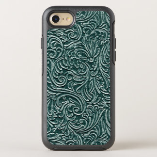 Forest Green Vintage Scrollwork Pattern Country OtterBox Symmetry iPhone 8/7 Case
