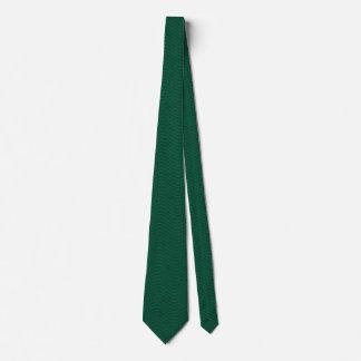 Forest Green Wavy Lines Neck Tie