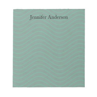 Forest Green Wavy Lines Notepad