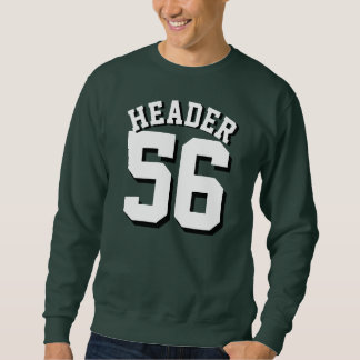 Forest Green & White Adults | Sports Jersey Design Sweatshirt