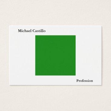 Beach Themed Forest Green White Minimalist Modern Plain Simple Business Card