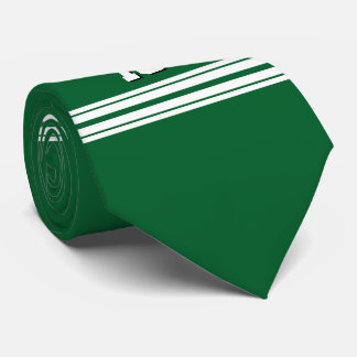 Forest Green White Team Jersey Custom Number Name Tie
